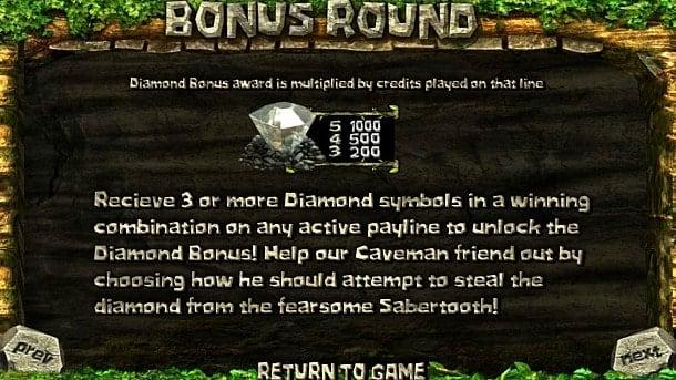 Бонусная игра в аппарате 2 Million BC