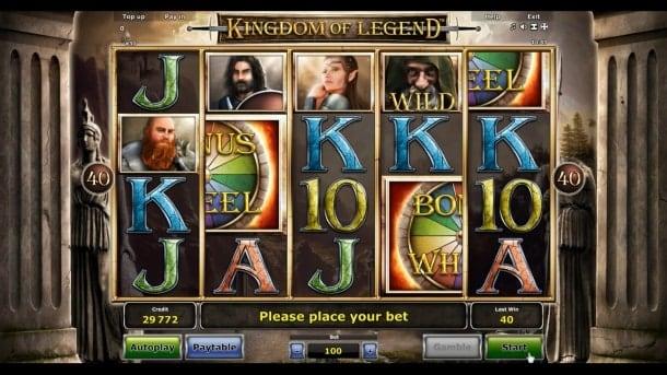 Игровые автоматы на деньги скачать на Андроид - Kingdom of Legend