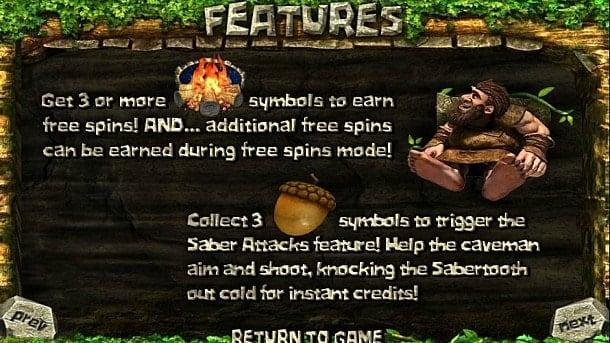 Фриспины в игре 2 Million BC