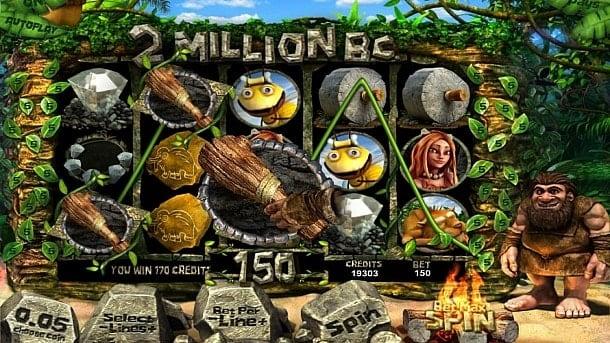 Призовая комбинация символов в игровом автомате 2 Million BC