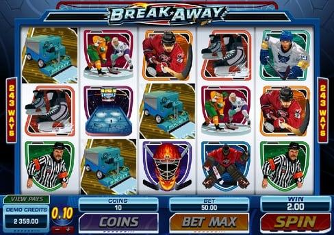 Призовая комбинация в игровом автомате Break Away