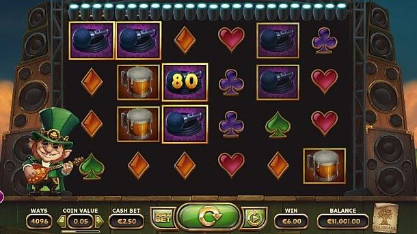 Призовая комбинация символов в игровом автомате Rainbow Ryan