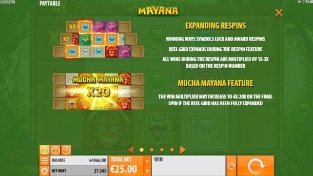 Описание респинов в онлайн аппарате Mayana