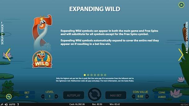 Wild в онлайн игре Scruffy Duck