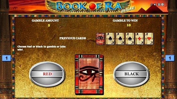 Игра на удвоение в онлайн слоте Book of Ra Deluxe